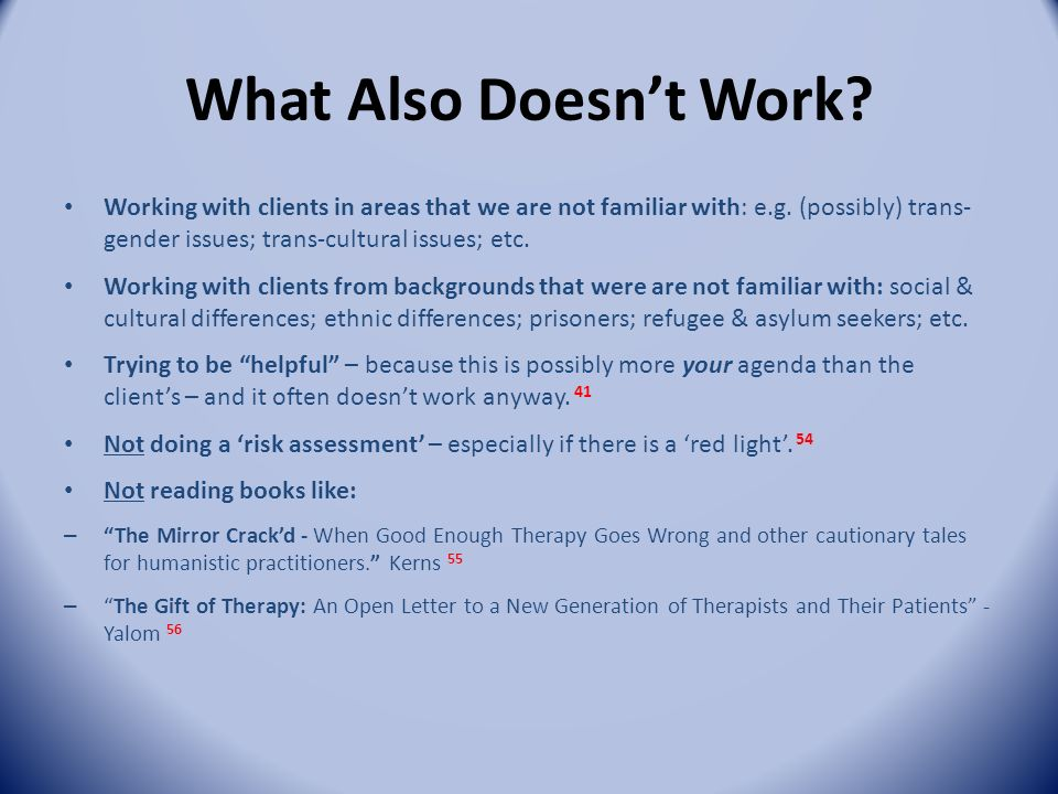 What works in psychotherapy counselling ppt download 33 what negle Choice Image