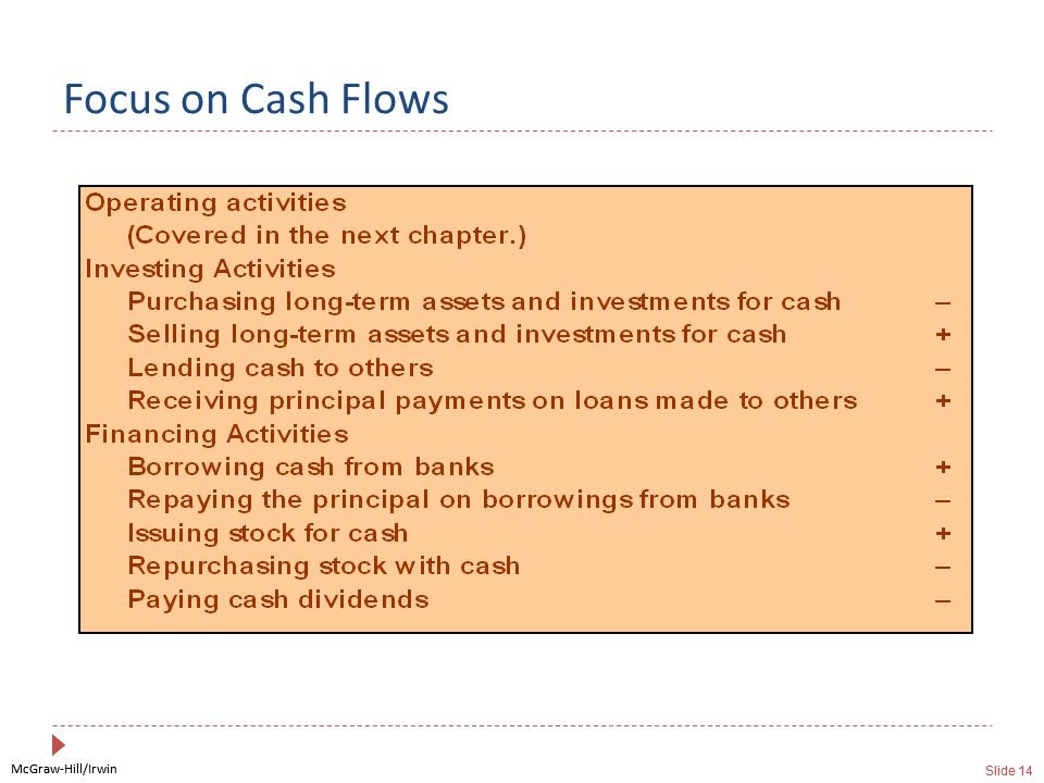 Focus on Cash Flows
