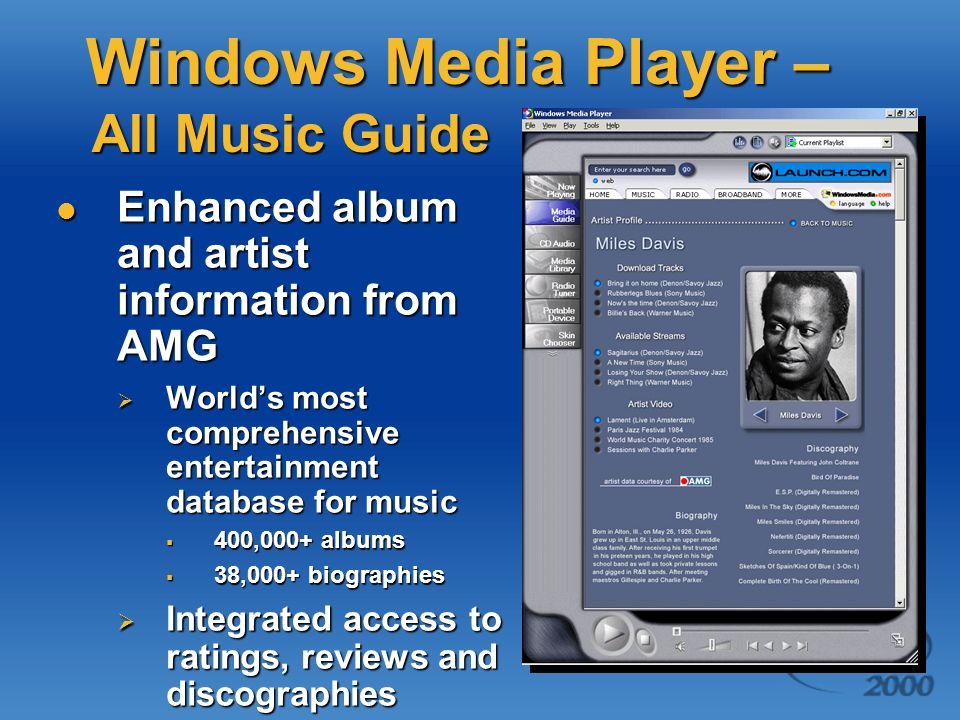 Windows Media Player – All Music Guide