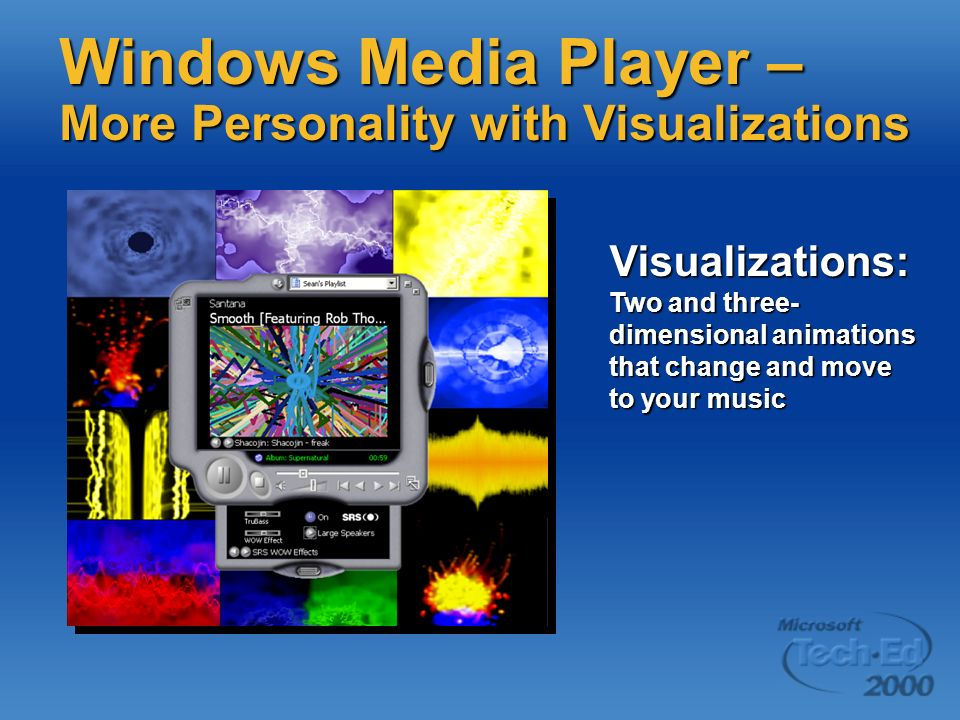 Windows Media Player – More Personality with Visualizations