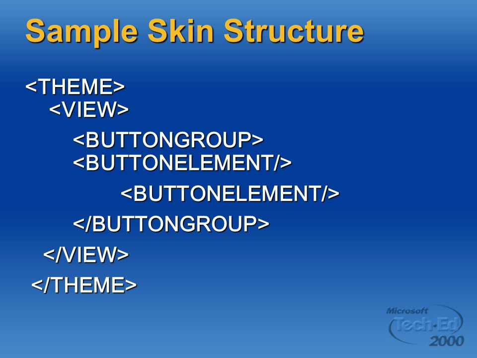 Sample Skin Structure <THEME> <VIEW>