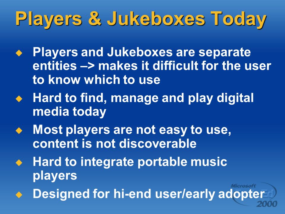Players & Jukeboxes Today