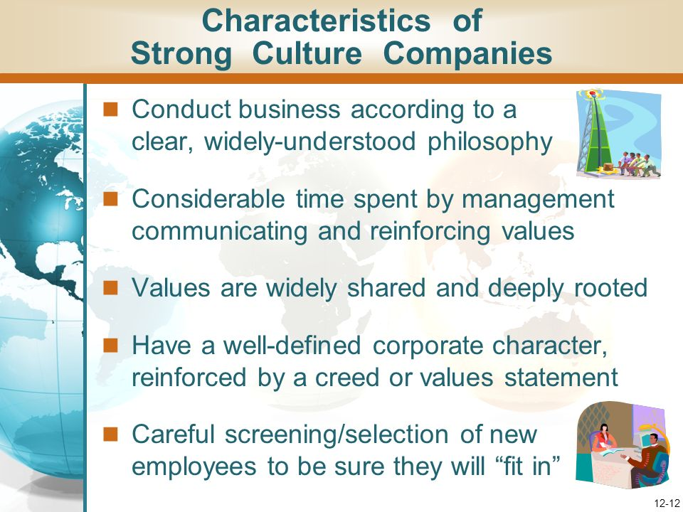 Characteristics of Strong Culture Companies