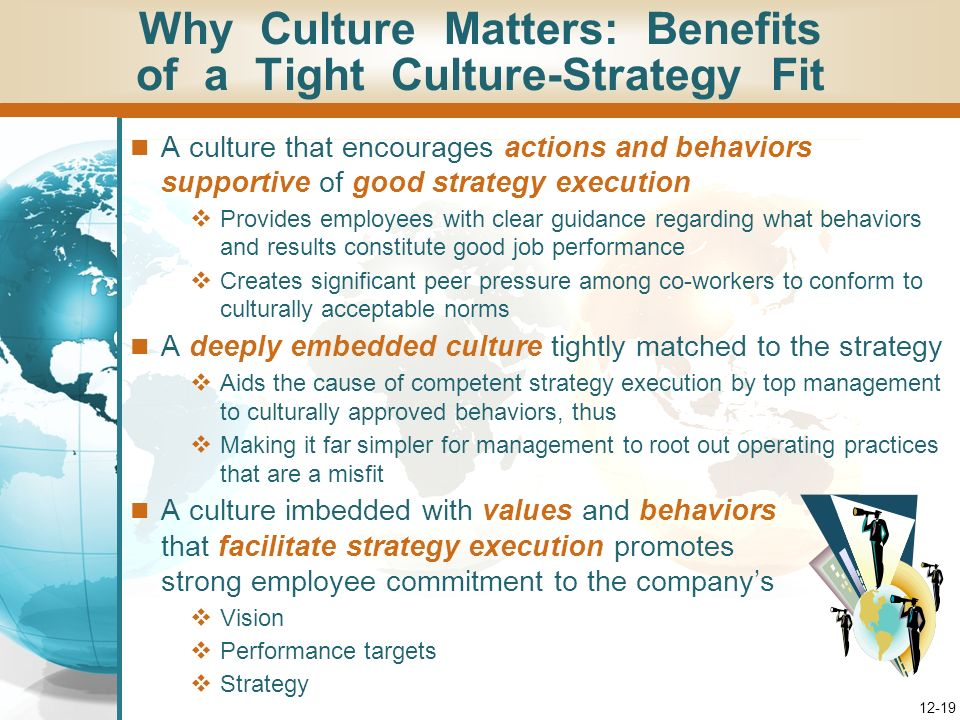 Why Culture Matters: Benefits of a Tight Culture-Strategy Fit