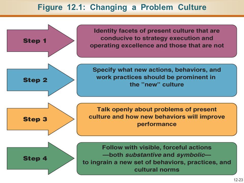 Figure 12.1: Changing a Problem Culture
