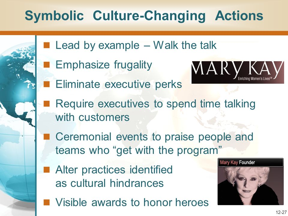 Symbolic Culture-Changing Actions