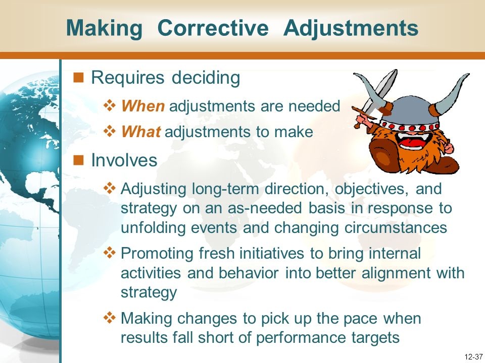 Making Corrective Adjustments