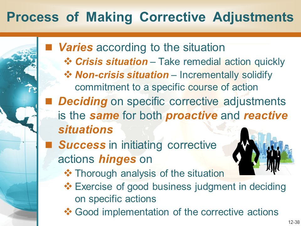 Process of Making Corrective Adjustments