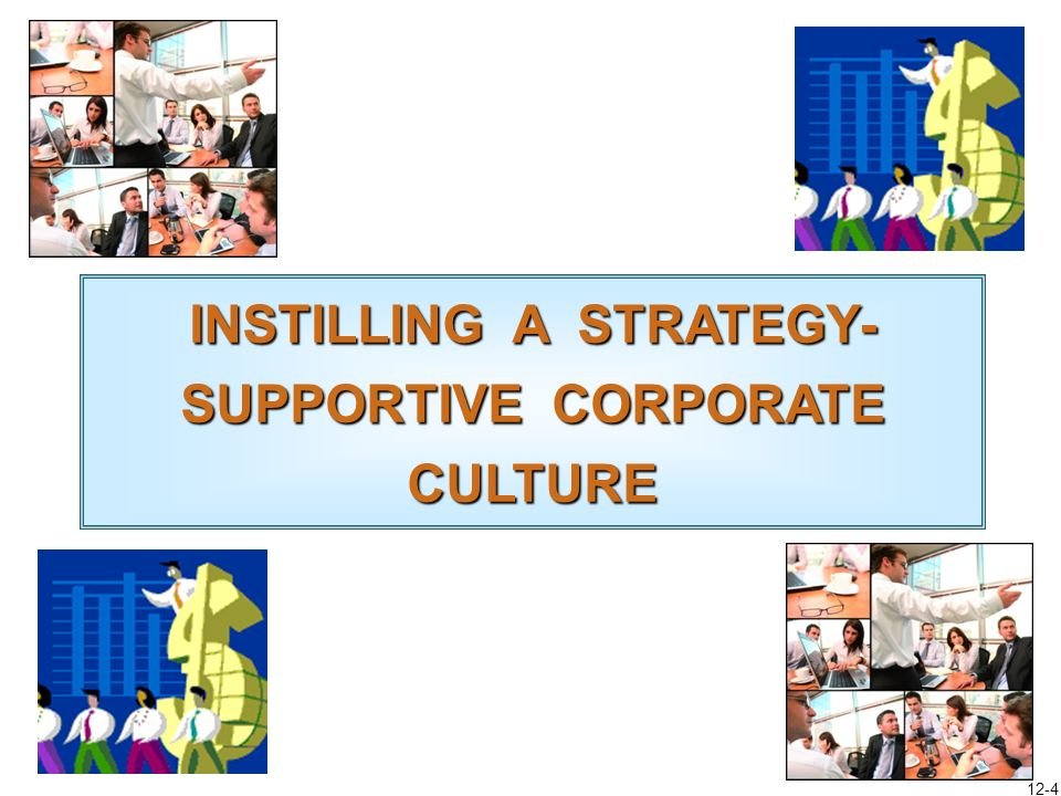 INSTILLING A STRATEGY-SUPPORTIVE CORPORATE CULTURE