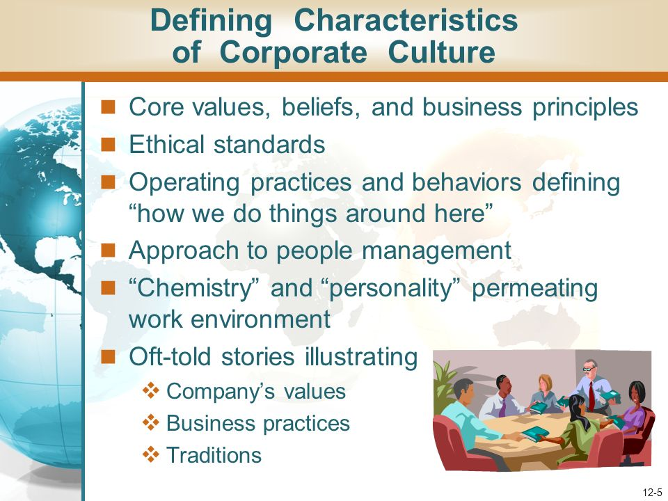 Defining Characteristics of Corporate Culture