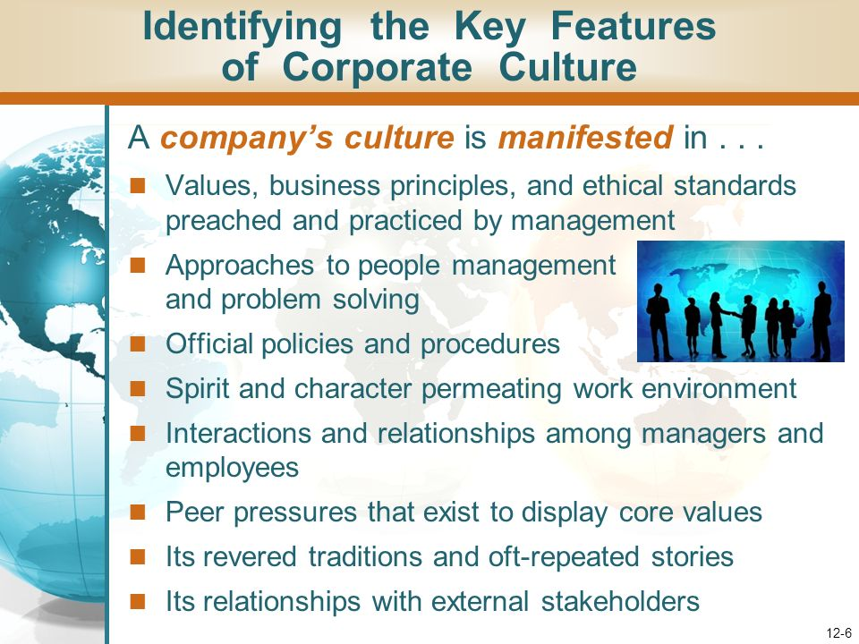 Identifying the Key Features of Corporate Culture