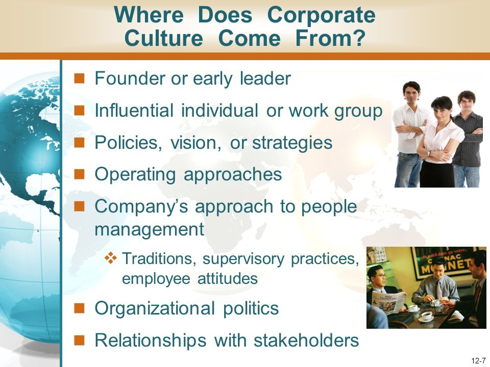 Where Does Corporate Culture Come From