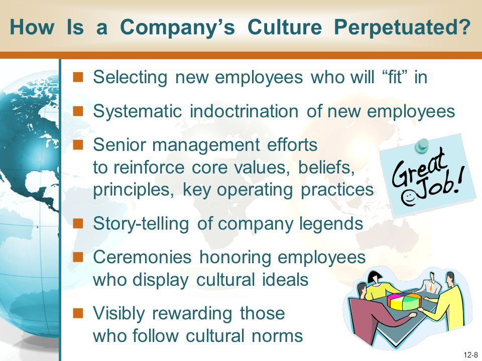 How Is a Company's Culture Perpetuated