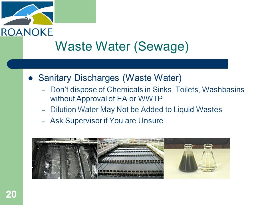 Waste Water (Sewage) Sanitary Discharges (Waste Water)