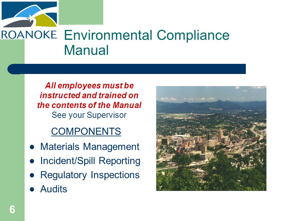 Environmental Compliance Manual
