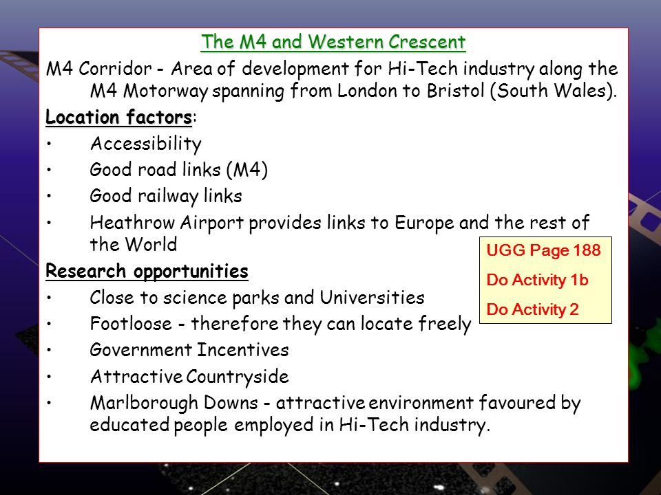 The M4 and Western Crescent