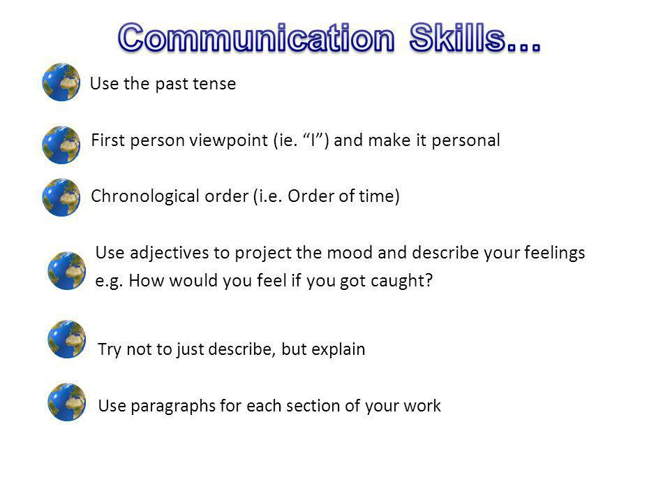 Communication Skills…