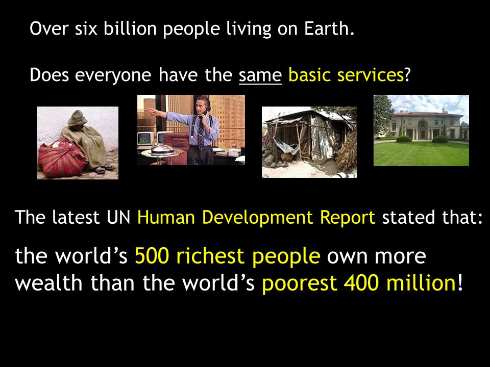 Over six billion people living on Earth.