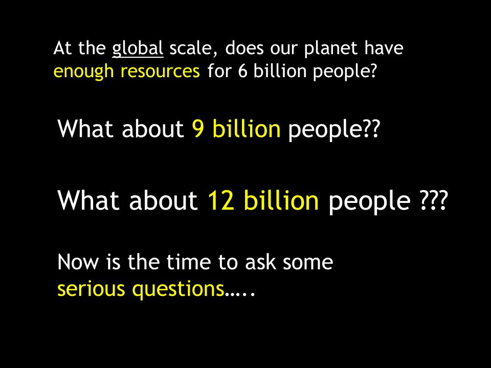 What about 12 billion people