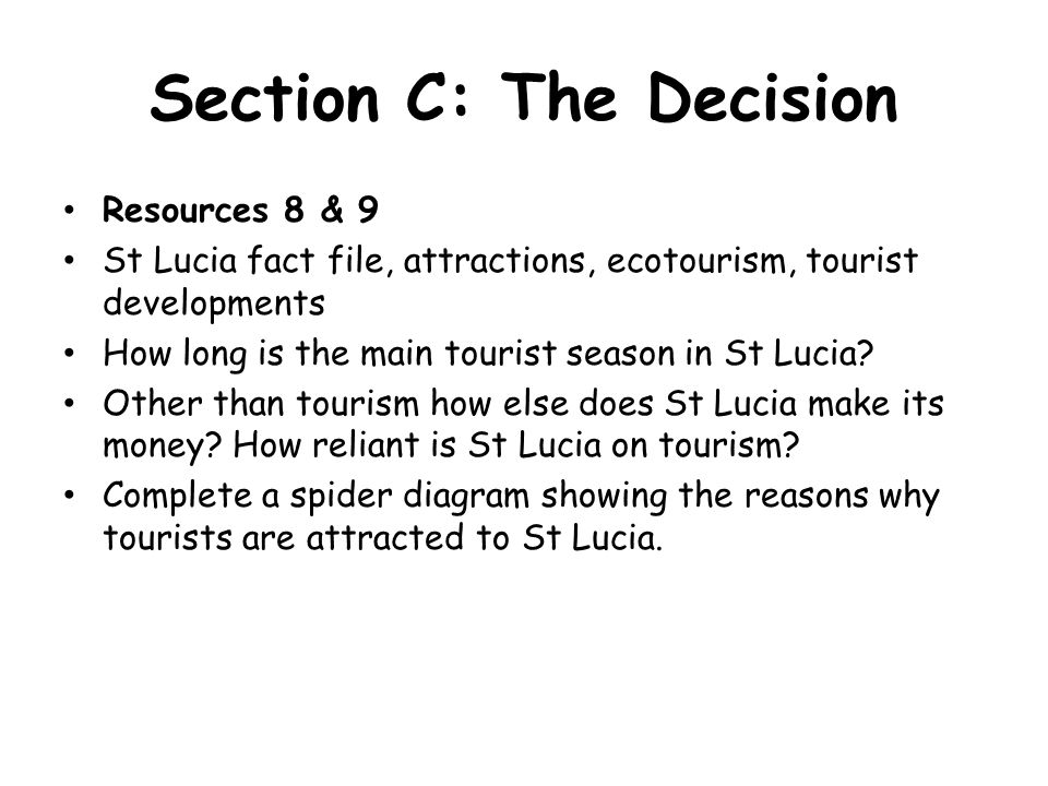 Section C: The Decision