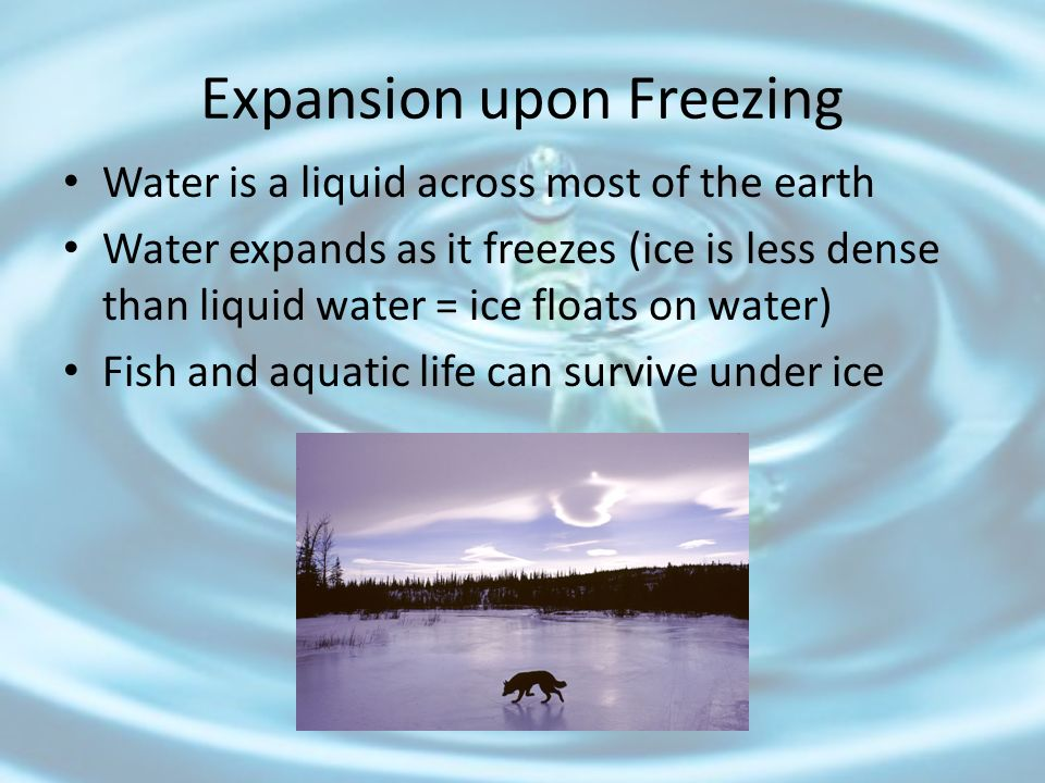 Expansion upon Freezing