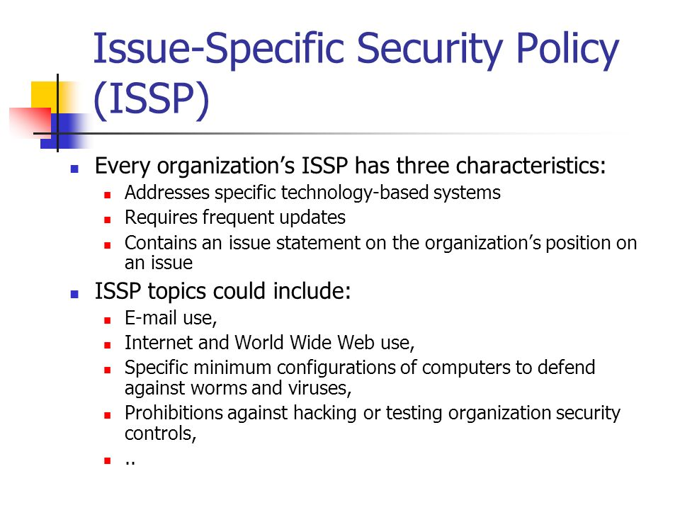 organisational system security internet security issues essay An intrusion detection system is a tool of information security and network professionals that detects unauthorized access to computer systems it accomplishes this as a network device that analyzes network traffic looking for known attack patterns it can then terminate the network session, blocking out the attacker.