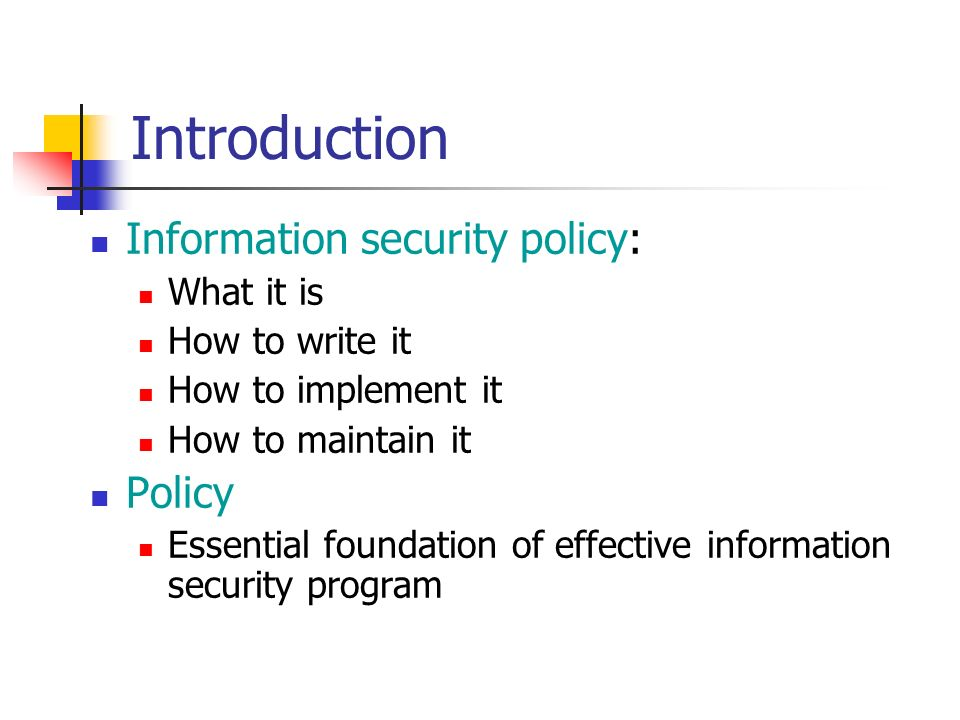 information security policy It security policies free trial creation process of a network access and authentication policy.