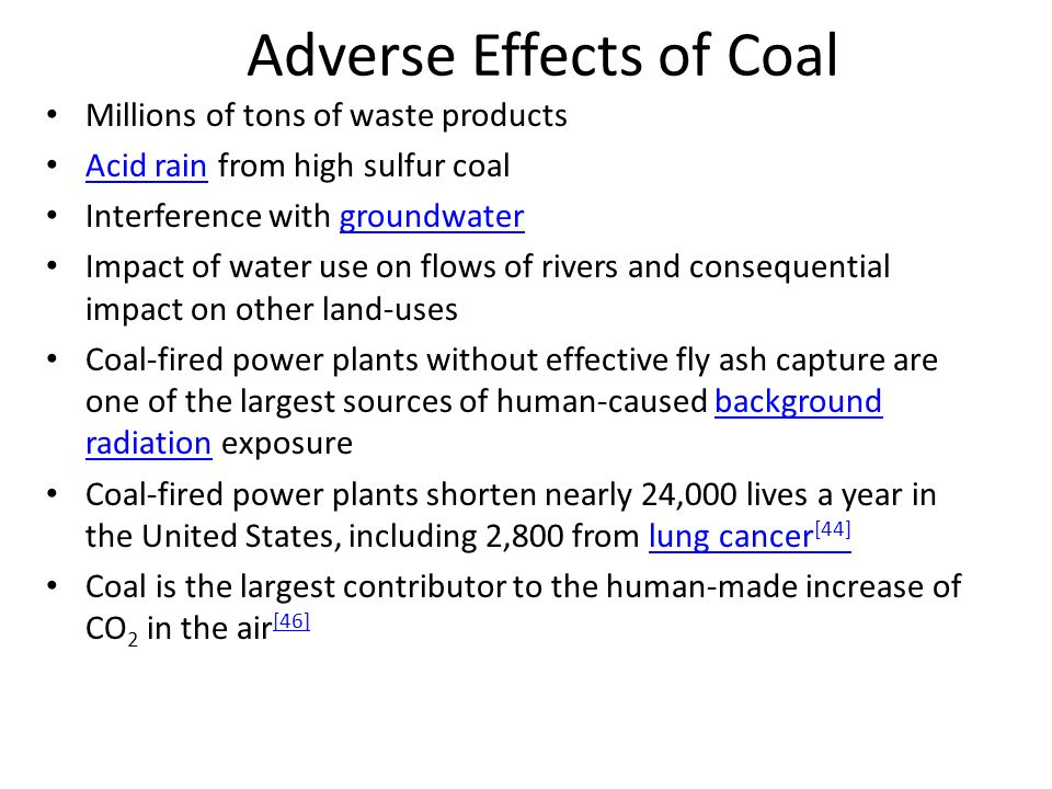 Adverse Effects of Coal
