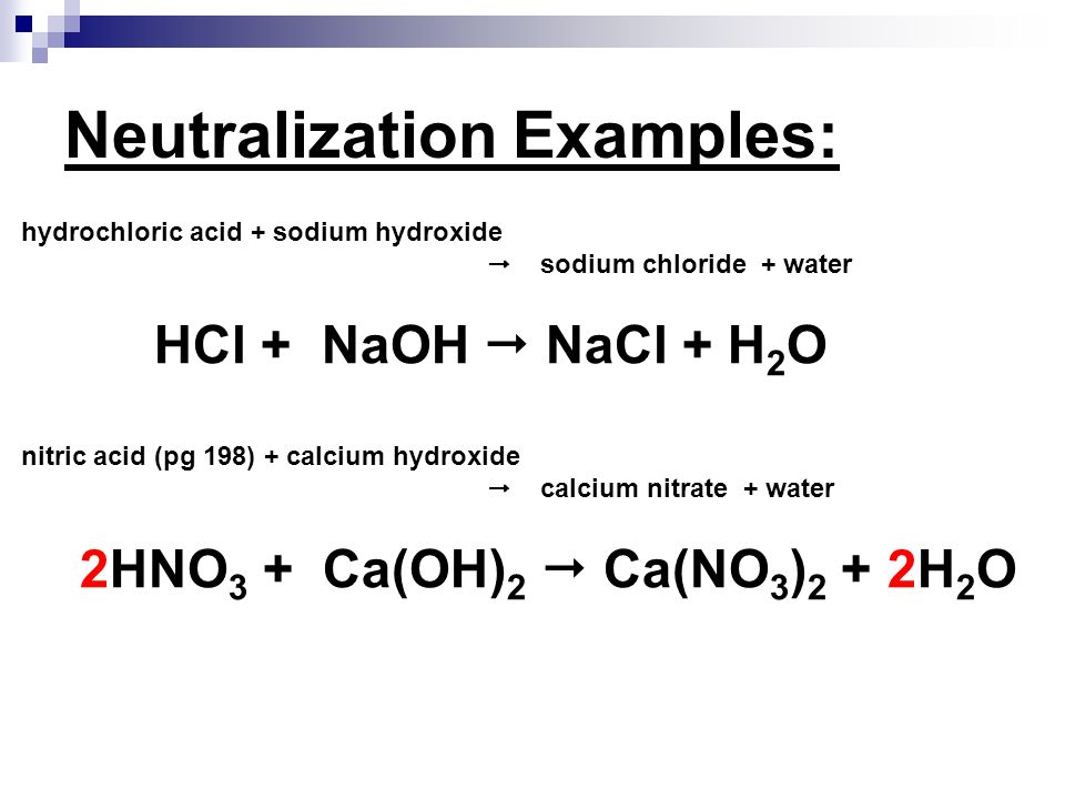 Neutralization Examples: