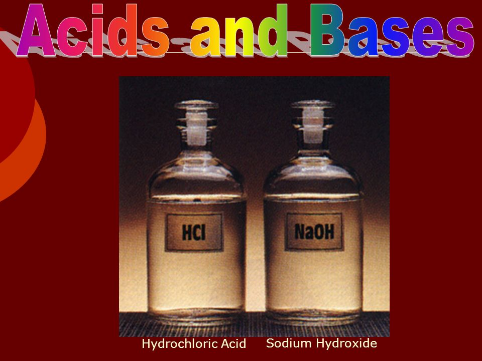 Acids and Bases Hydrochloric Acid Sodium Hydroxide