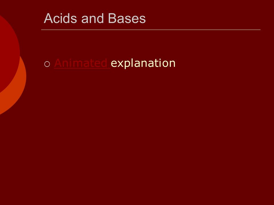 Acids and Bases Animated explanation