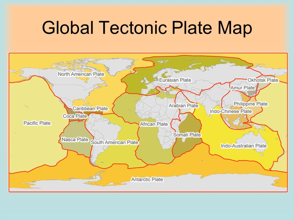 Global Tectonic Plate Map