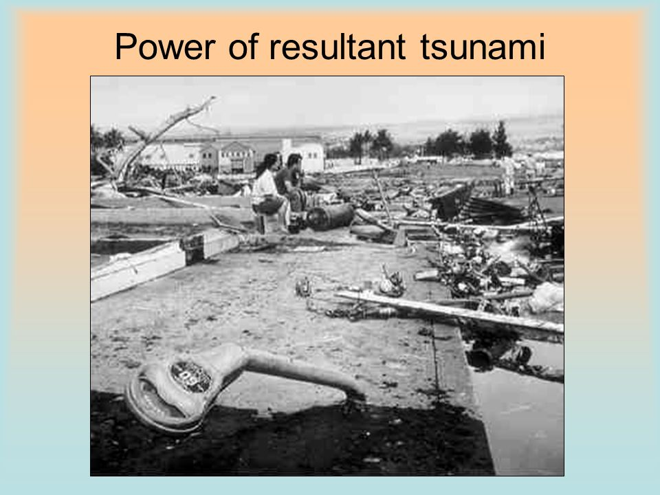 Power of resultant tsunami