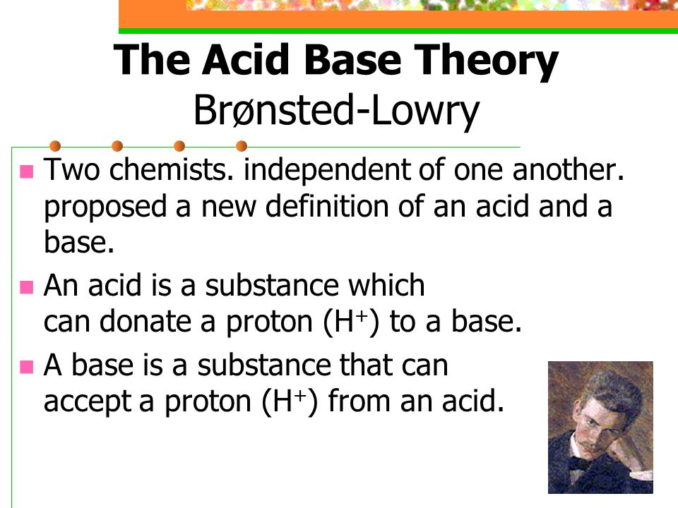 an analysis of acid based reaction proposed by bronsted and lowry Analyzing of students' misconceptions on acid 33 discussion based on the analysis that all acid-base reaction bronsted-lowry theory can.