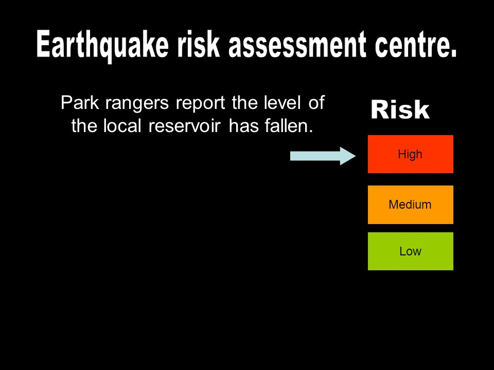Earthquake risk assessment centre.