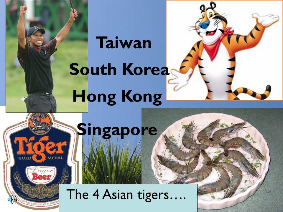 Taiwan South Korea Hong Kong Singapore