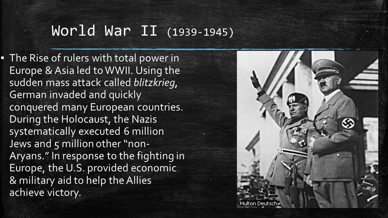 an overview of the events leading to world war ii The emergence of the united states as a global power us also drew international attention through leading the history of the first world war 2 nd ed london.