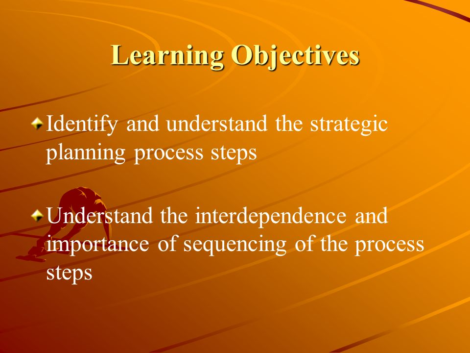 Learning Objectives Identify and understand the strategic planning process steps.