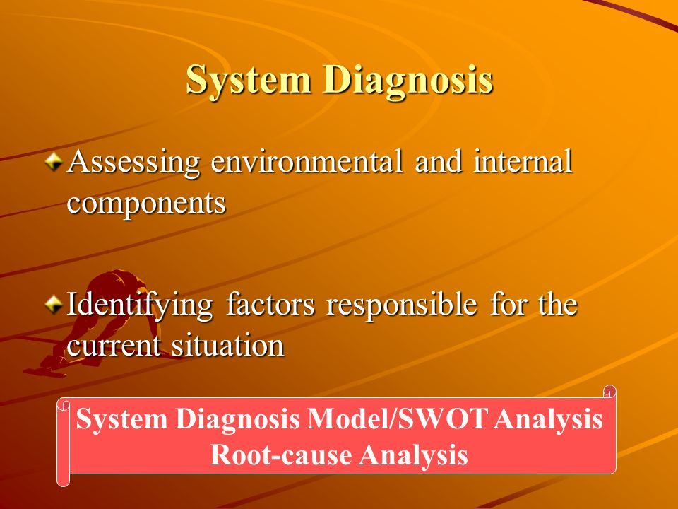 System Diagnosis Model/SWOT Analysis