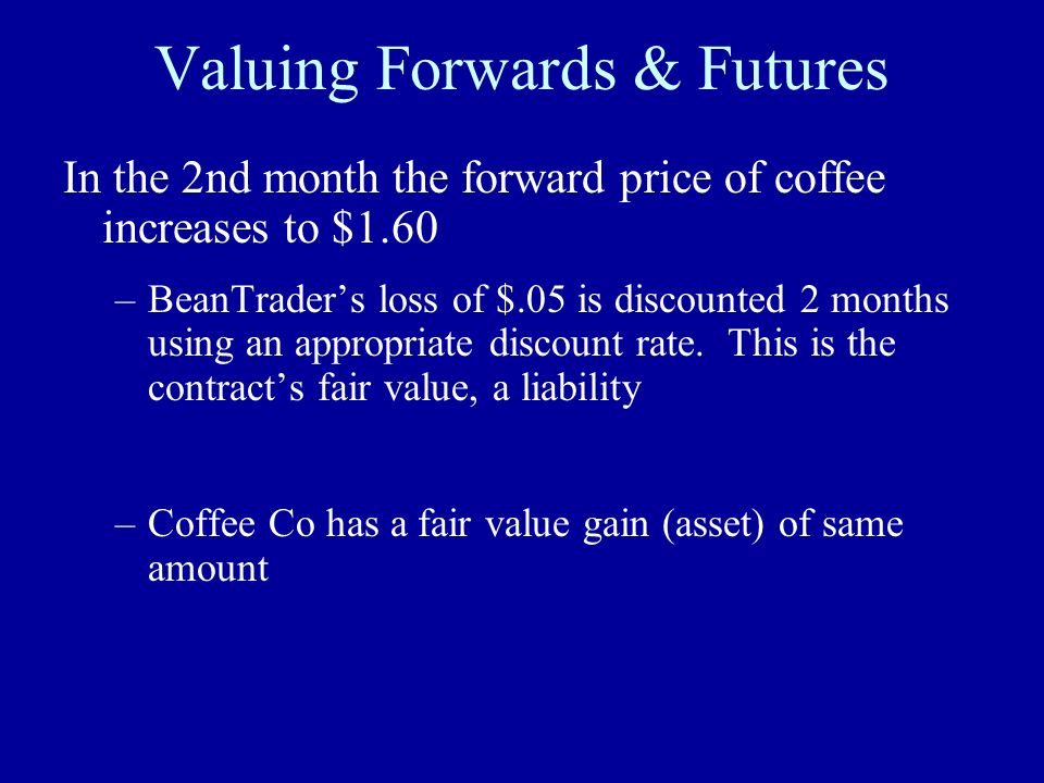 Valuing Forwards & Futures