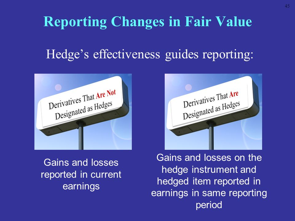 Reporting Changes in Fair Value