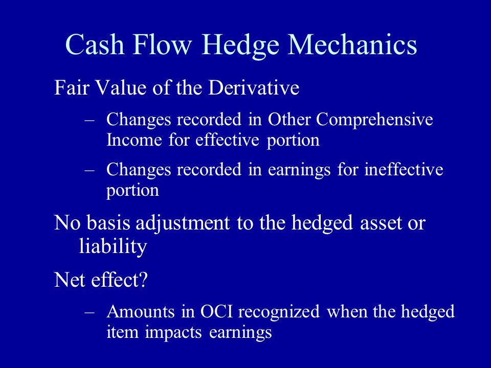 Cash Flow Hedge Mechanics