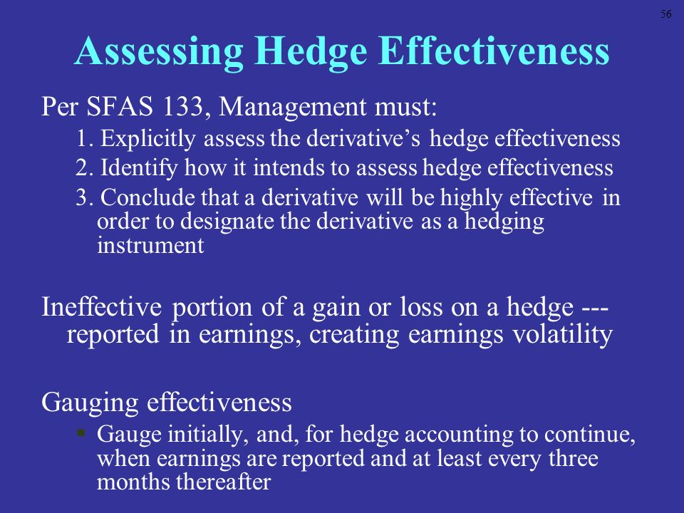 Assessing Hedge Effectiveness