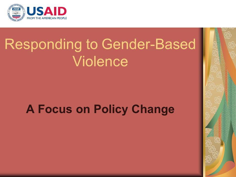 Responding to Gender-Based Violence