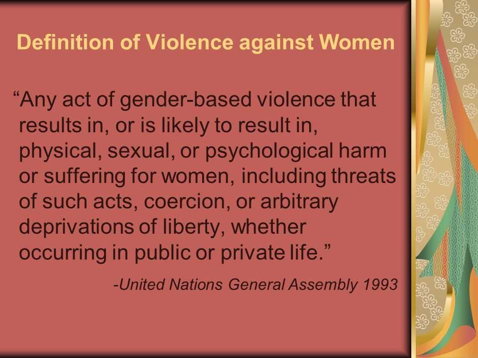 Definition of Violence against Women
