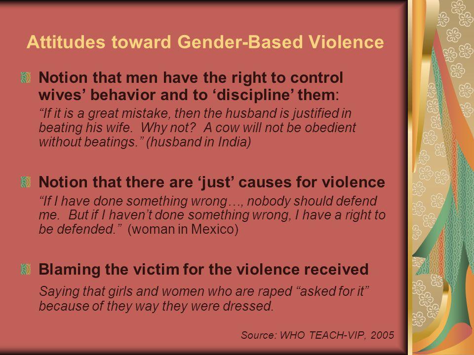 Attitudes toward Gender-Based Violence