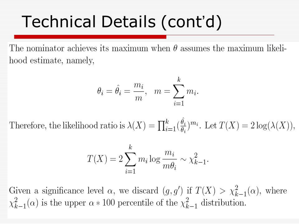 Technical Details (cont'd)