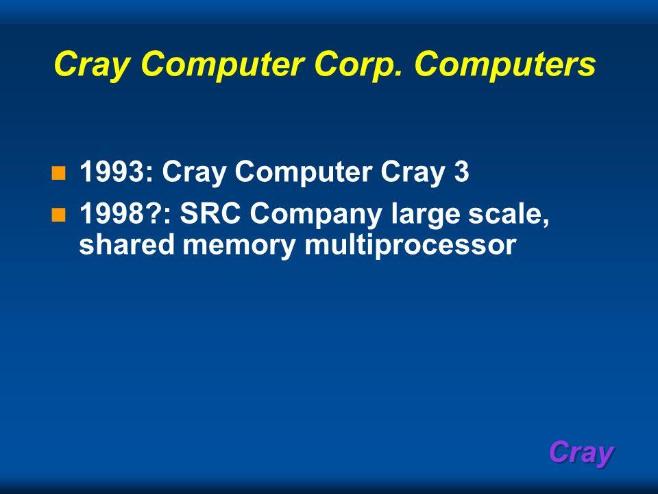 Cray Computer Corp. Computers