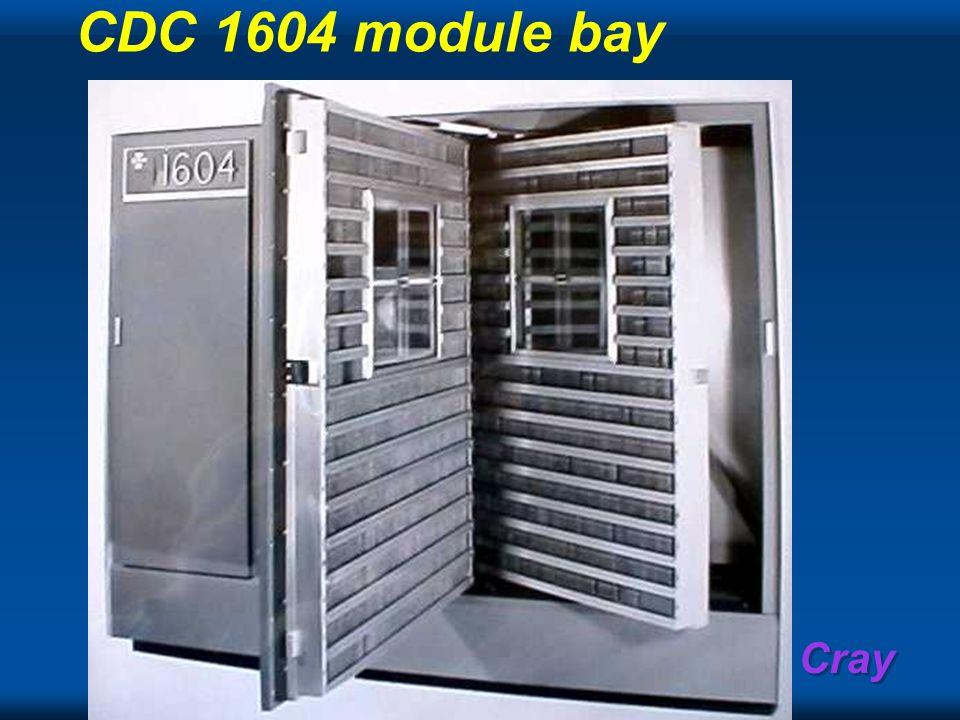 CDC 1604 module bay
