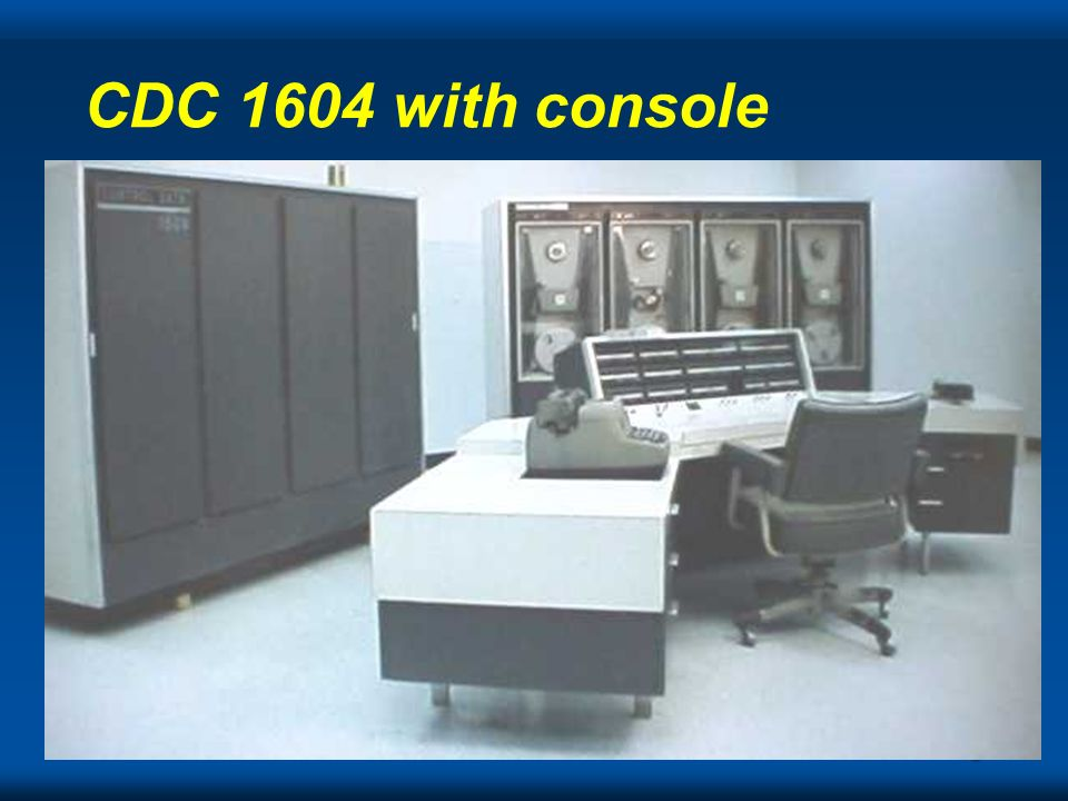 CDC 1604 with console